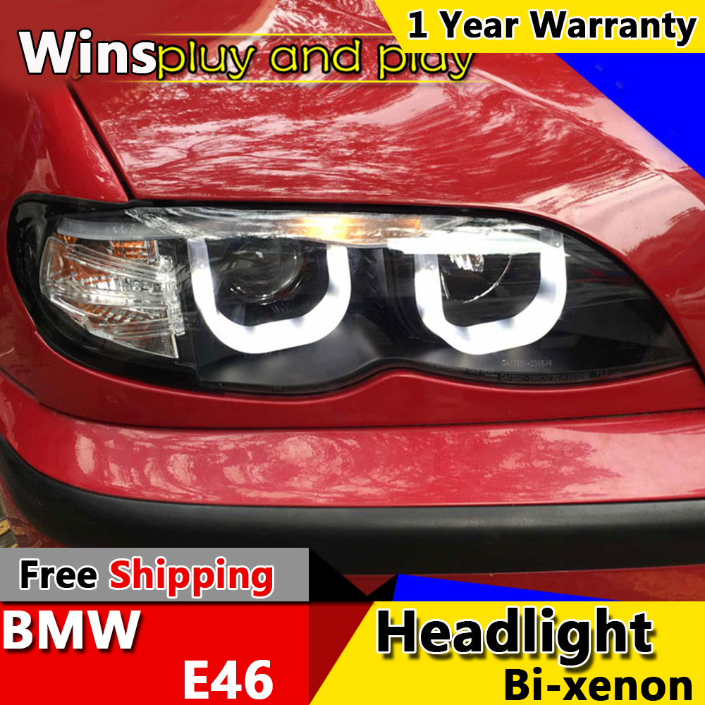 hight resolution of wins lights for bmw e46 headlights 325i 318i led headlight u angel eye headlight bi xenon front accesspories in car light assembly from automobiles