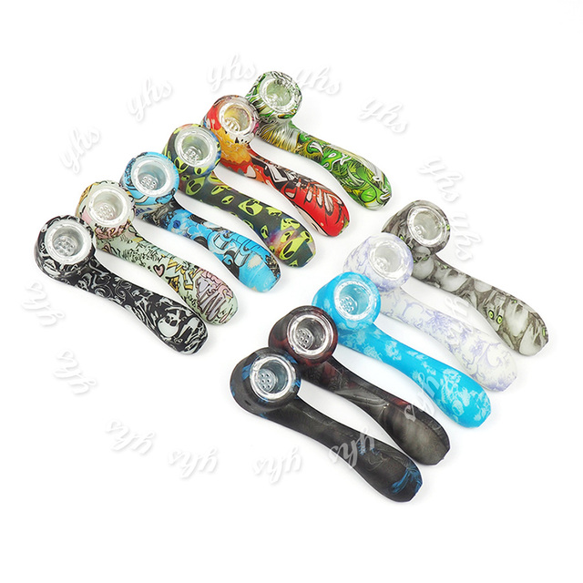 glow in the dark silicone glass pipe