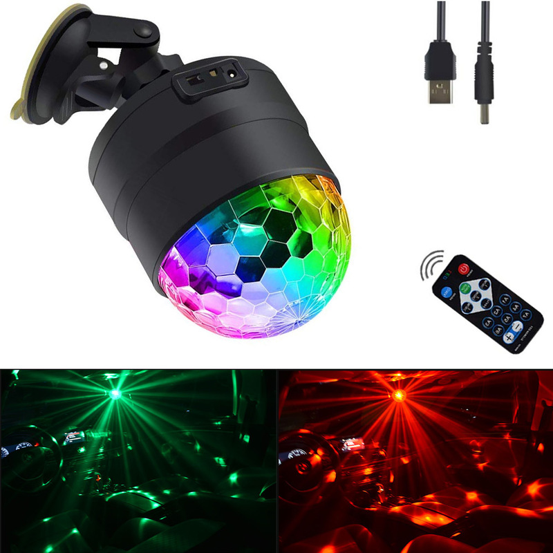 Crystal Magic Ball Led Stage Lamp 21 Mode Disco Laser Light Party Lights Sound Control Dmx Lumiere Laser Comfortable And Easy To Wear Stage Lighting Effect