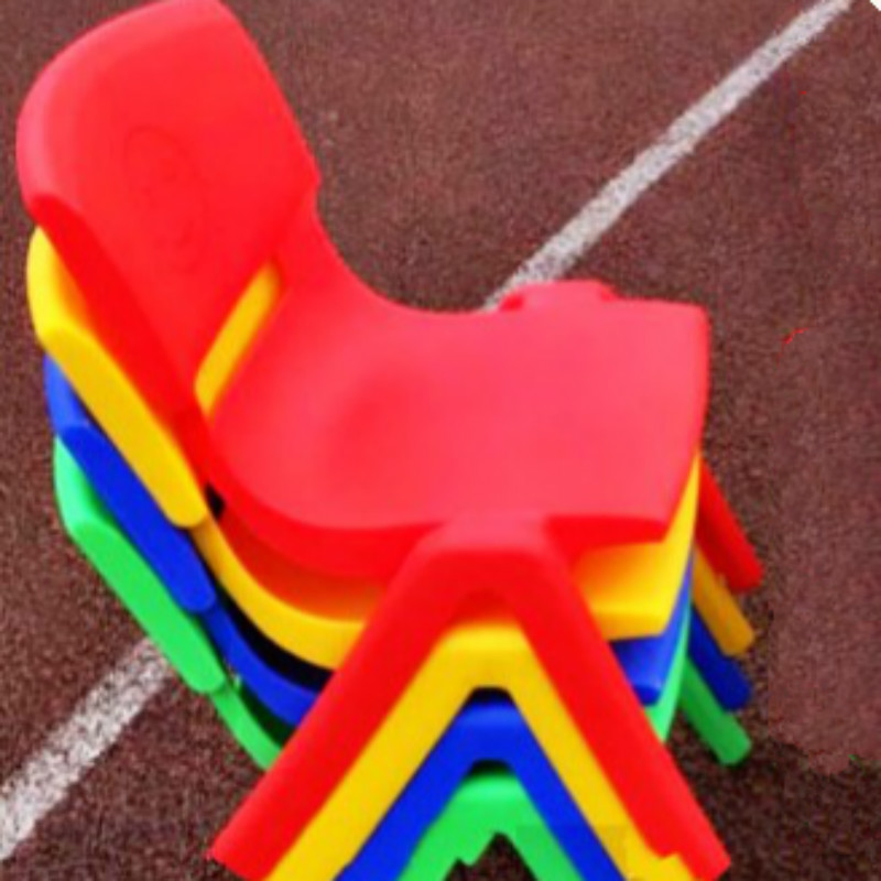5 PCS/LOT Plastic Chair For Kids Stool Home Furniture Living Room Seat Garden Supplies baby seat inflatable sofa stool stool bb portable small bath bath chair seat chair school