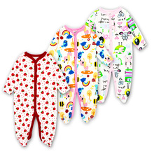 Купить с кэшбэком 3PCS Mother Nest Baby Girl Rompers Full Sleeve Jumpsuit Spring Fall Winter Clothes Vestido Infantil Baby Cloths