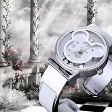 New Fashion Mickey Bracelet Watches Women dress Girl's Cute Rhinestone wristwatches men 2018 Ladies Casual Quartz cartoon watch