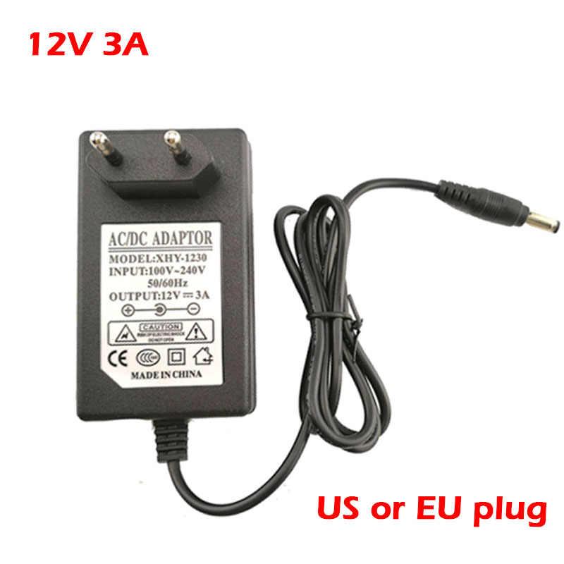 100-240 فولت التيار المتناوب إلى تيار مستمر محول 12 فولت 9 فولت 5 فولت 1A 2A 3A 0.5A امدادات الطاقة محول محول شاحن 5.5 مللي متر x2.1 2.5 مللي متر لشريط CCTV led