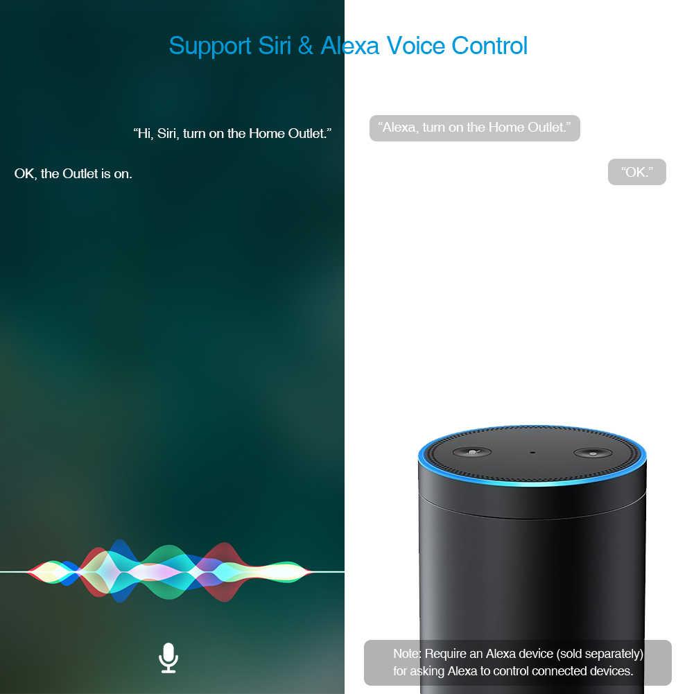 Koogeek wi-fi akıllı soket ile Çalışır Apple HomeKit ve Amazon Alexa Desteği Ses Kontrolü ile Siri veya Alexa Ev App ABD Plug
