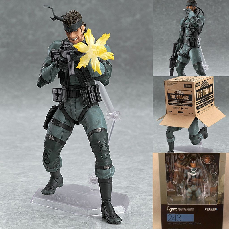 Newest METAL GEAR SOLID 2: SONS OF LIBERTY Figma 243 Snake PVC Action Figure Collectible Model Toy 15cm Kids Toys for Children new metal gear solid v action figure toys 16cm mgs snake figma model collectible doll mgs figma figure kids toys christmas gifts