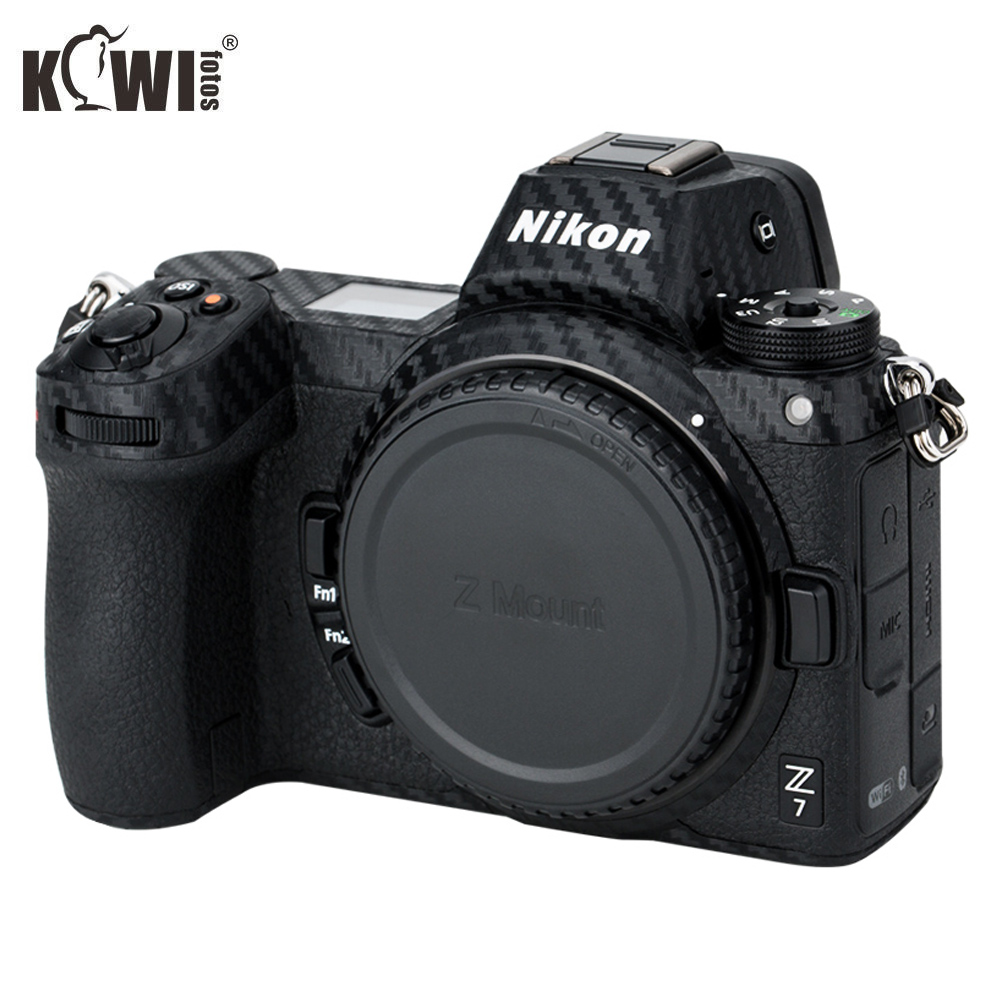 KIWIFOTOS Anti-Scratch Camera Body Cover Carbon Fiber Film Kit For Nikon Z7 Z6 3M Sticker With Spare Film Cameras Protection