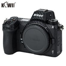 Kiwifotos kit de filme de fibra de carbono, anti risco, capa do corpo e câmera, para nikon z7 z6 3m adesivo com reserva câmeras de proteção de filme