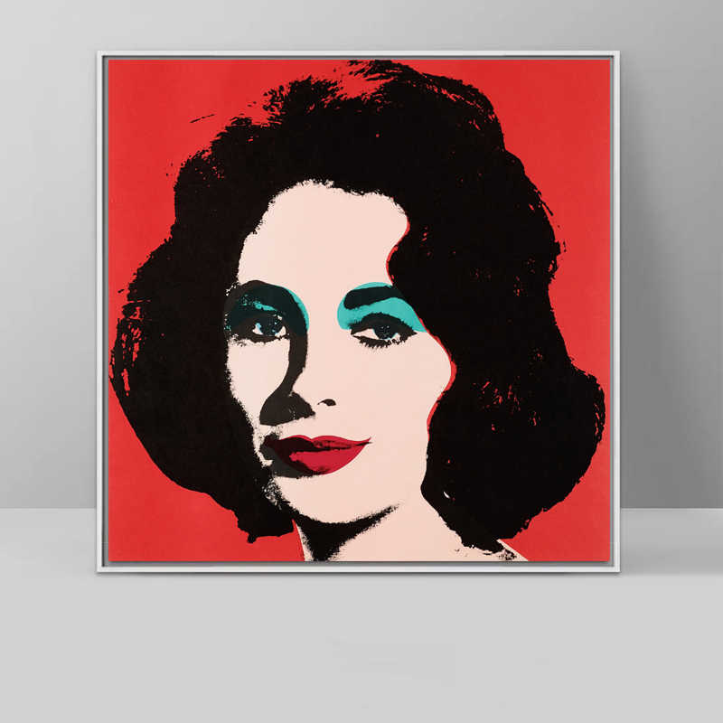 Canvas Art Prints Elizabeth Taylor Portrait Oil Painting By Famous Master Andy warhol for Wall decoration No Frame
