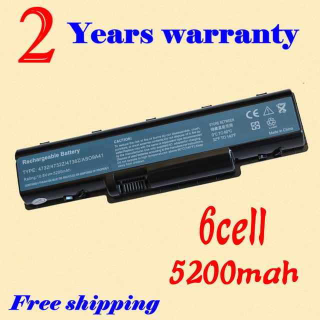 JIGU emachines e525 battery 4400mAh laptop For Acer AS09A31 AS09A71 Aspire 4732 4732Z AS09A41 AS09A51 AS09A61 D725 Free shipping