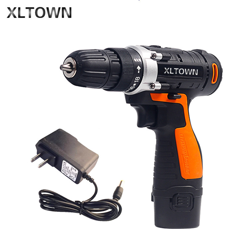 XLTOWN 12V cordless electric drill lithium battery rechargeable multi-function electric screwdriver household power tools xltown 12 16 8 21v cordless lithium electric drill with 2 battery multi function rechargeable electric screwdriver power tools