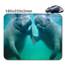 Animals dolphins  3D Print Rubber Soft Gaming Non-slip Durable Mouse Pad Mat 220*180*2mm As Stylish office accessory&gift