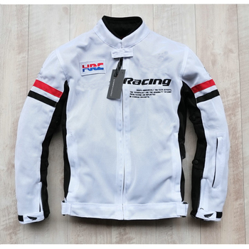 Mesh Protective White Jacket for Honda Street Motorcycle Off-Road Touring Motocross Racing Breathable Jackets
