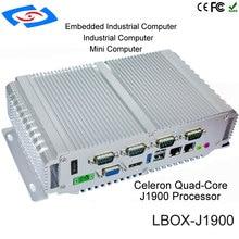 مصنع توريد إنتل سيليروم J1900 / N2930 بدون مروحة صندوق صغير الصناعية الكمبيوتر اختياري 64G/128G/256G محركات الحالة الصلبة 4G RAM