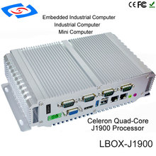 Rifornimento della fabbrica Intel Celerom J1900 / N2930 Industriali Fanless Mini Box PC Opzionale 64G/128G/256G Unità A Stato Solido, 4G di RAM