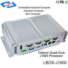 공장 공급 미니 pc 인텔 Celerom J1900 / N2930 팬리스 산업용 PC 옵션 64GB/128GB/256GB 솔리드 스테이트 드라이브 4GB RAM