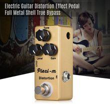 Pedal de efecto de distorsión para guitarra eléctrica MOSKY plexi m, partes de guitarra con carcasa completamente de Metal, Bypass auténtico
