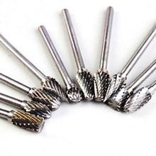 10 шт./лот, роторный инструмент, сверло, набор, карбид вольфрама, фреза, режущая кромка, головка для металла, Деревообрабатывающие инструменты для резьбы