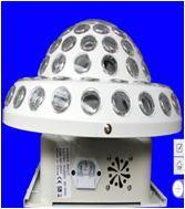 2ピース/ロットニース効果レーザーフラッシュ光6色ledミニクリスタルマジックボールdmx ledレーザー光効