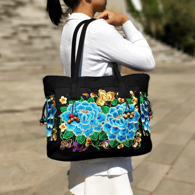 Hot Fashion Embroidery Women Casual Tote!Multi Floral Embroidered Lady Canvas Shoulder&Handbags Versatile Vintage Crossbody BagsHot Fashion Embroidery Women Casual Tote!Multi Floral Embroidered Lady Canvas Shoulder&Handbags Versatile Vintage Crossbody Bags