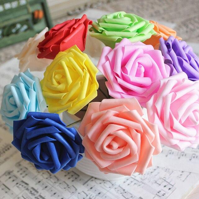 12colors 8CM Artificial Rose Flowers Wedding Bride Bouquet PE Foam Home Decor Rose Flowers wedding decoration 1Piece
