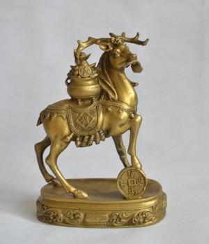 Pure copper, cornucopia deer (a deer get rich), geomantic omen ornaments