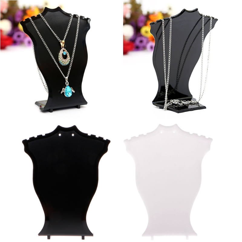 JAVRICK Pendant Necklace Chain Earring Jewelry Bust Display Holder Stand Showcase Rack