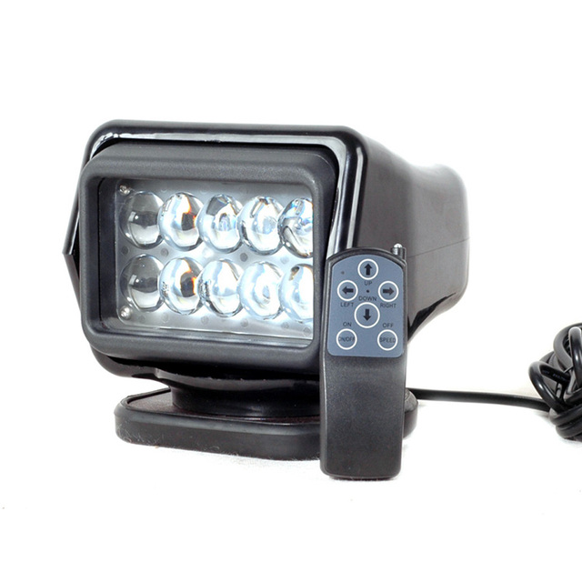 Ip67 10 30v Remote Control Led Searchlight 7inch 50w Spotlight Work Day Light Truck