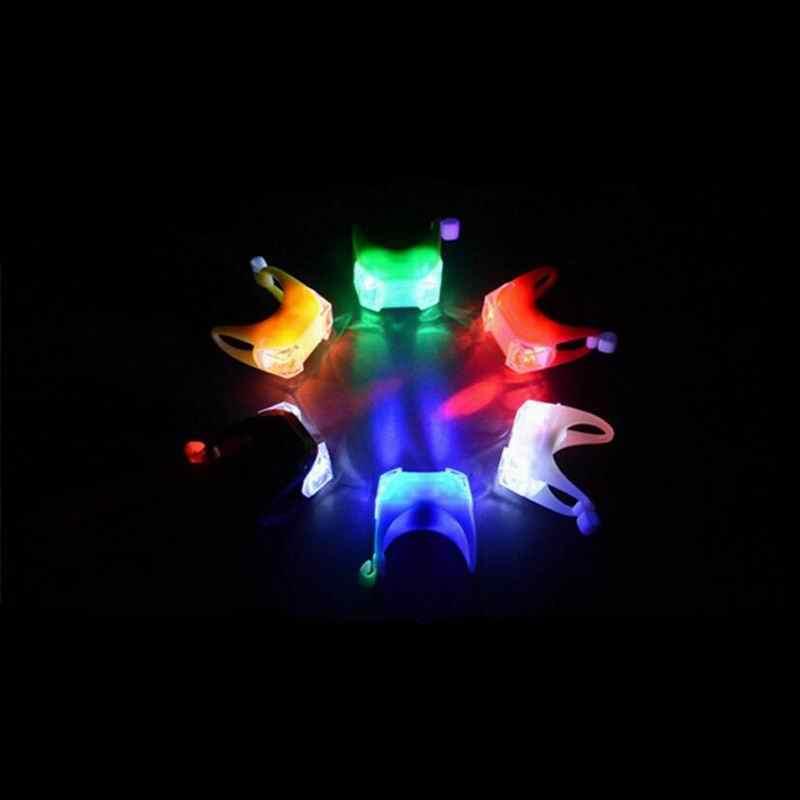 الصمام للماء دراجة دراجة الدراجات الجبهة الخلفية الذيل خوذة الأحمر أضواء وامضة مصباح تحذير السلامة السلامة الحذر إكسسوارات مضيئة