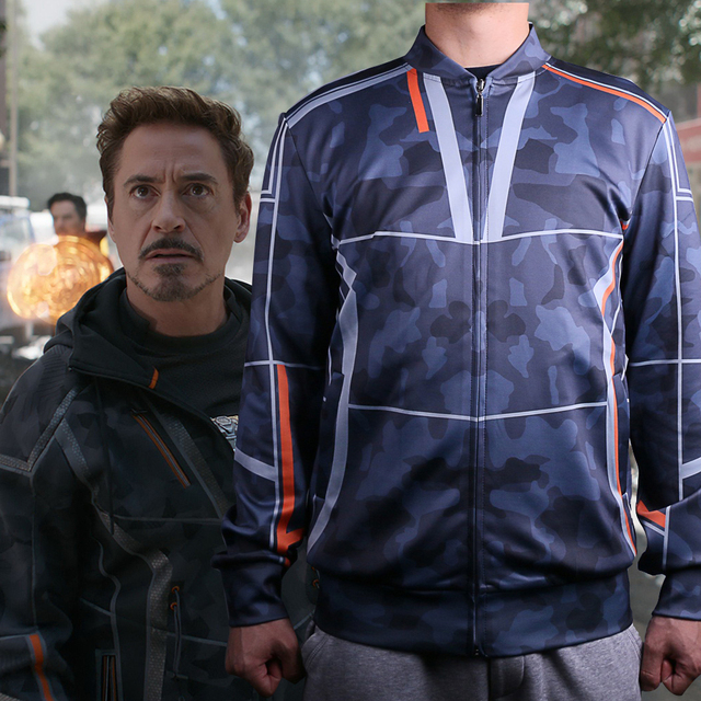 new movie 2018 avengers infinity war costume iron man cosplay tony stark coat hoodie mens jacket