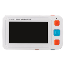 "Фотография Handheld 4X-32X Low Vision 4.3"" Color LCD Pocket Electronic Reading Digital Magnifier Aid Free shipping with Multiple Color Mode"