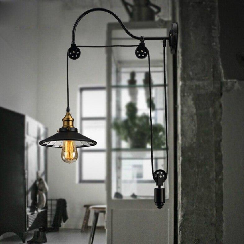 Eusolis Amerikaanse Loft Wandlamp Interieur Studie Balkon Gangpad Lichten Industriële Wandlamp Loft Decor Arandelas Para Parede