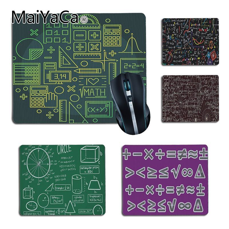 MaiYaCa 2018 New Mathematical symbols artist Computer Gaming Mouse mats Size for 25X29cm 18x22cm Gaming Mousepads