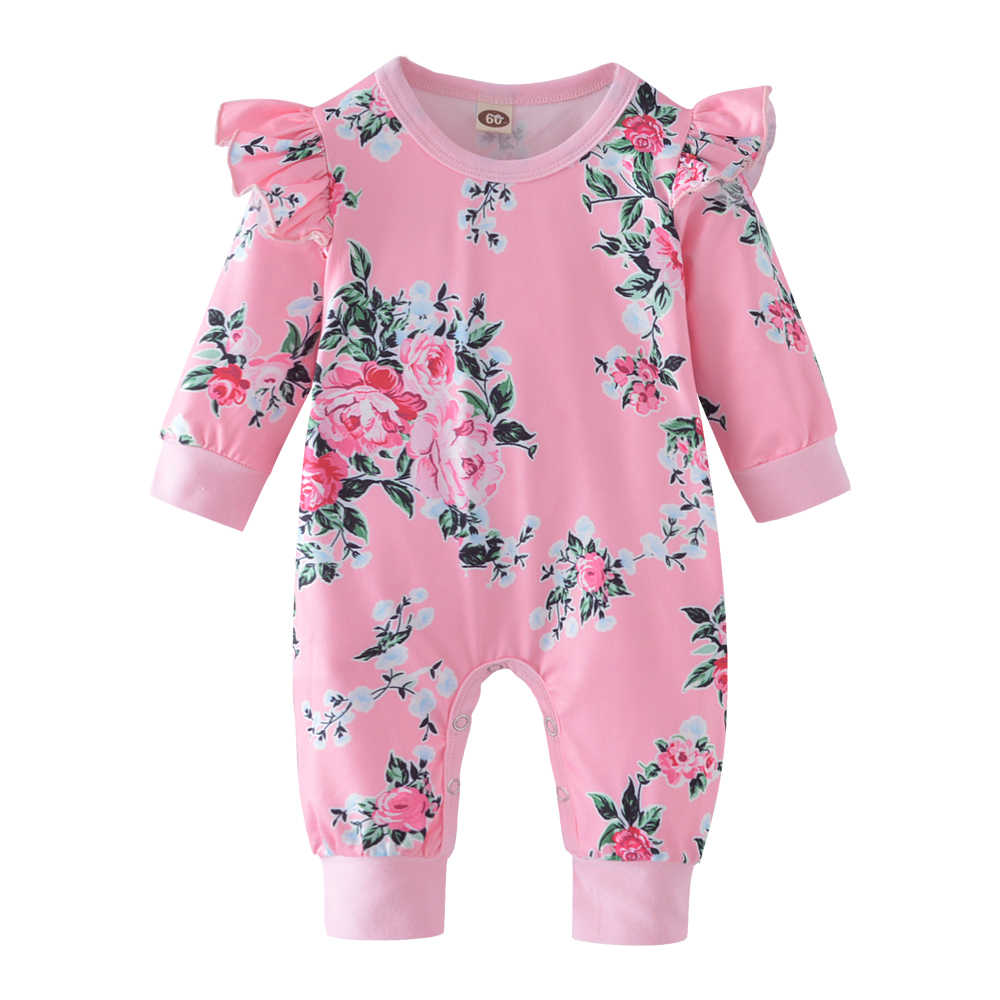 d07f49f3e06 Detail Feedback Questions about Autumn Fashion Newborn Toddler Baby Rompers  Pink Ruffle Floral Jumpsuit Infant Clothing Baby Girl Clothes on  Aliexpress.com ...