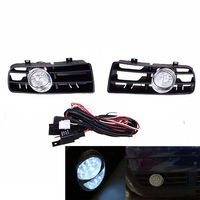Front Bumper Grill Fog Light Lamp Grille LED for VW Golf GTi / TDI MK4 1997 2003 03 02 01 1J0 853 665 B, 1J0 853 666 B