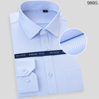 Non ironing Men Long Sleeve Shirt New Male Plus Size Fit Business Shirts White Blue Dropshipping 2018 Japanese Streetwear