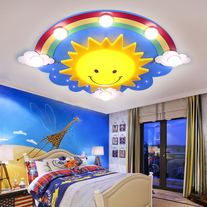 Children's room cartoon LED ceiling lamp creative personality baby lamp girl boy eye Princess bedroom Ceiling Lights LO7143 creative cartoon baby cute led act the role ofing boy room bedroom chandeliers children room roof plane light absorption