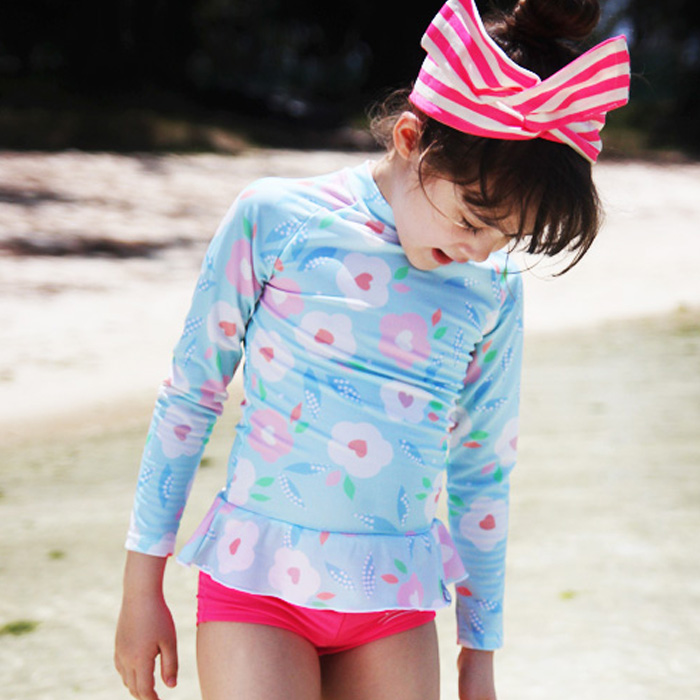 Girl's Two Pieces Suit for Swimming New Summer Beach Wear ...