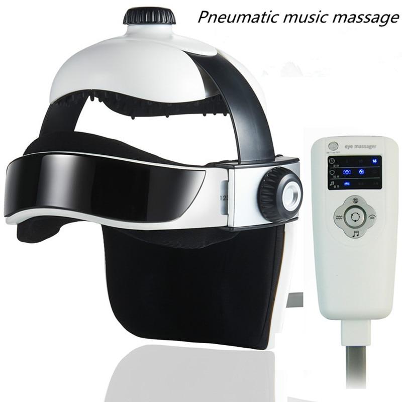 Sponge 6V 8W 100 240V 50/60Hz Electric Head Massager Infrared Pressure Relax Acupuncture Music Massage Helmet