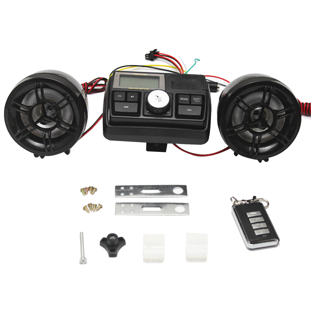 Motorcycle Alarm Waterproof Sound System FM Radio Stereo Amplifier MP3 Speakers Anti-Theft Alarm System With USB SD Slot New
