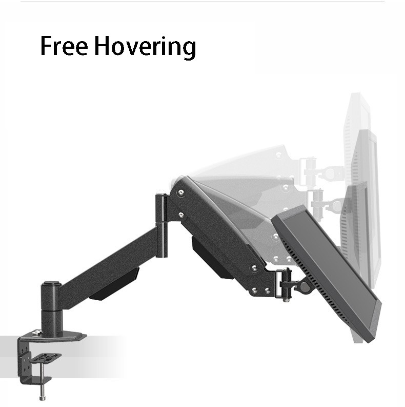 ФОТО L150 Desktop Clamping Mount And Grommet Mount Gas Spring Full Motion LCD LED Monitor Holder TV Mount Loading 10kgs