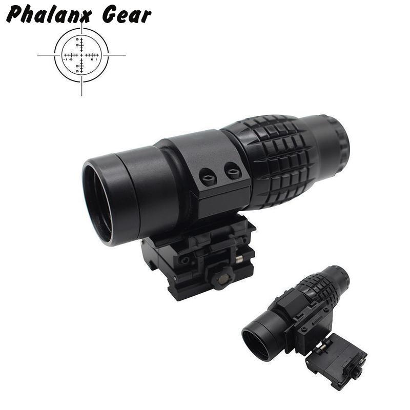 Tactische 3x Magnifier Riflescope Vergrootglas Scope Voor FTS Flip Naar Side Mount Past Holografische En Reflex Sight