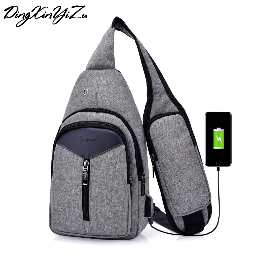 Hot-Selling Chest Bag Single Shoulder Bag With Phone Pocket Sling Bag Male Crossbody Bag