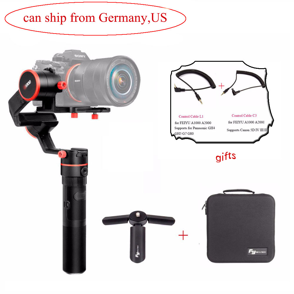 (can ship from Germany) FeiyuTech Feiyu A1000 3 Axis Handled Gimbal Stabilizer for a6500 a6300 iPhone 8 Sumsung GoPro Hero 5