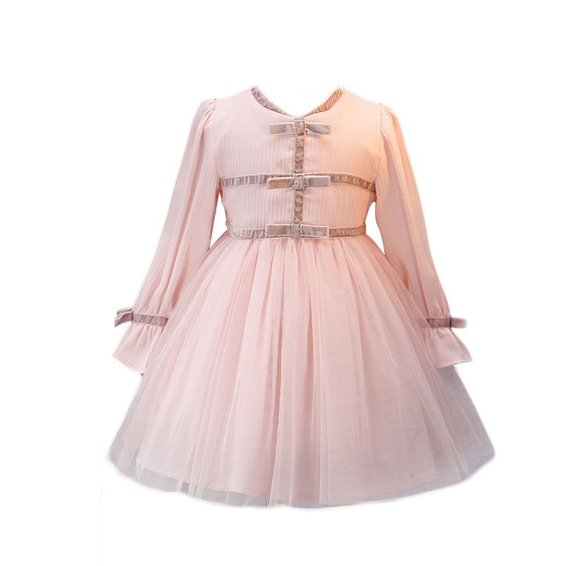 Pink Long Sleeves   Flower     Girl     Dresses   2019 Tulle Appliqued Pageant   Dresses     Girls   First Communion   Dresses