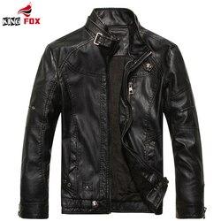 King fox new winter jacket men motorcycle men s leather coats outerwear male leather jacket men.jpg 250x250