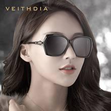 4aeebbc8408d42 VEITHDIA 2018 Mode Diamant Femmes De Luxe Surdimensionné lunettes de Soleil  Élégant oculos de sol lunettes de Soleil nuances pou.