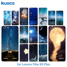 Phone Case for Lenovo Vibe K5 Plus Lemon 3 Back Cover A6020 Bags Night Sky Pattern Soft TPU Silicon For Lenovo A 6020 Slim Coque(China)