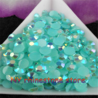Wholesale Large Quantity SS20 5mm 30000pcs Bag Acid Blue Magic Color AB Jelly Resin Rhinestones Mobile