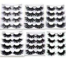 4/9 Pairs 3D Mink Hair False Eyelashes Criss cross Wispy Cross Fluffy length 16 25mm Lashes Extension Handmade Eye Makeup Tools