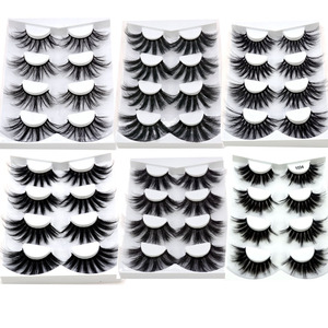 Image 1 - 4/9 Pairs 3D Mink Hair False Eyelashes Criss cross Wispy Cross Fluffy length 16 25mm Lashes Extension Handmade Eye Makeup Tools
